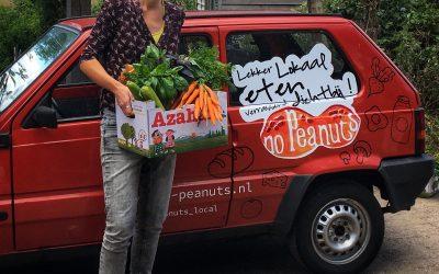 Jolien in Deventer letterlijk de boer op voor versmaaltijden van haar bedrijf noPeanuts